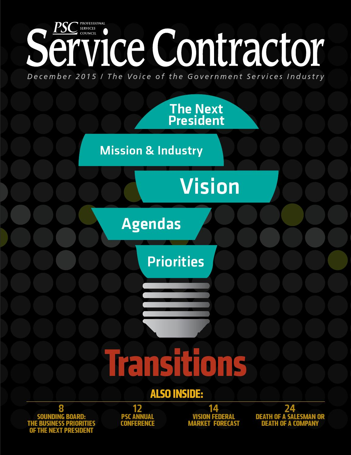 Service Contractor Magazine by Professional Services Council