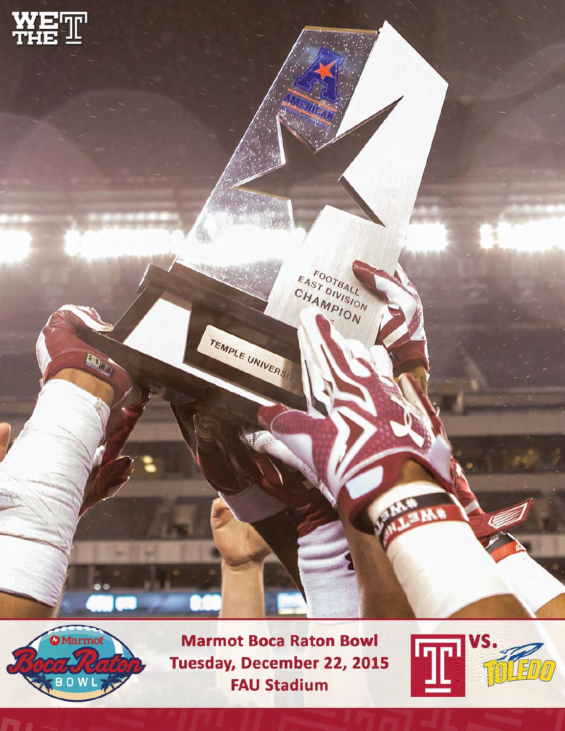 2046c676d 2015 Temple Football Marmot Boca Raton Bowl Guide by Temple Athletics -  issuu