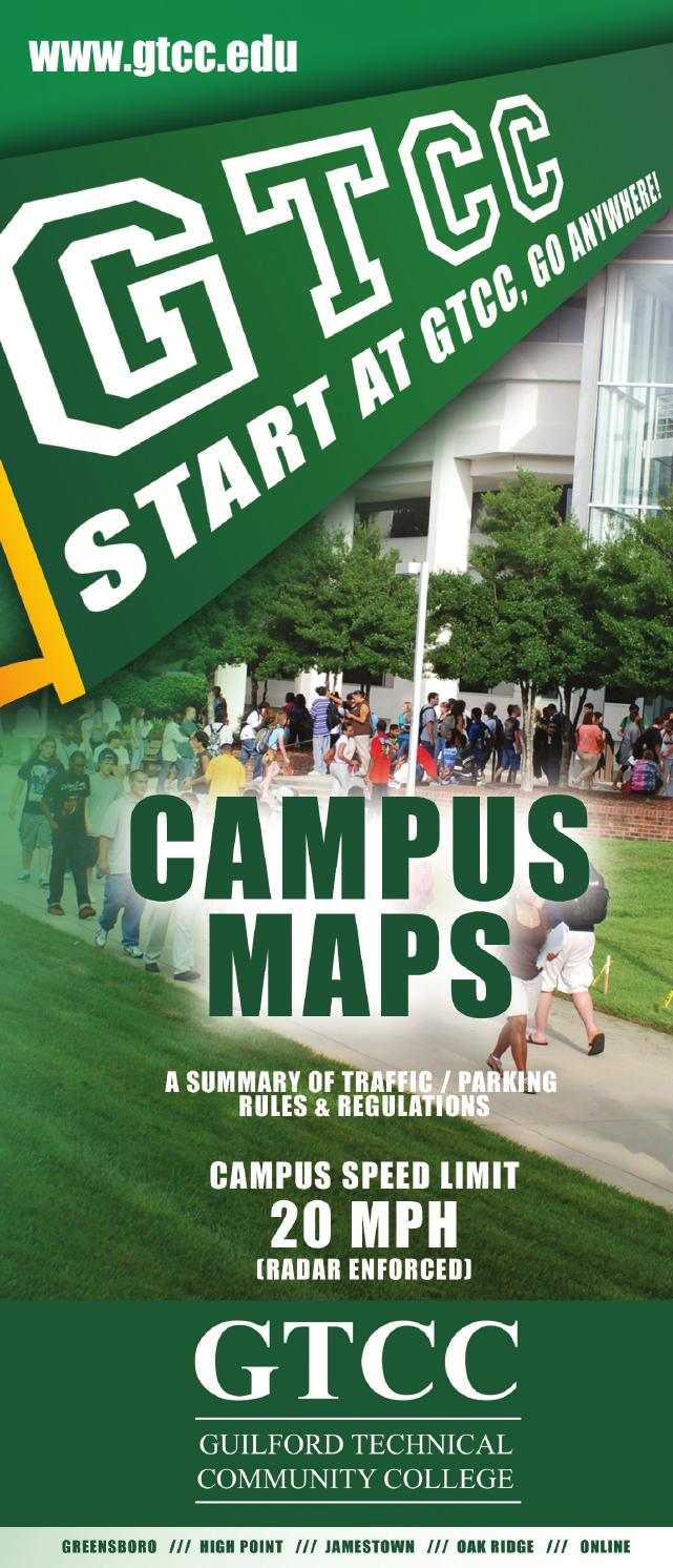 Gtcc Campus Maps Traffic Regulations By Guilford Technical