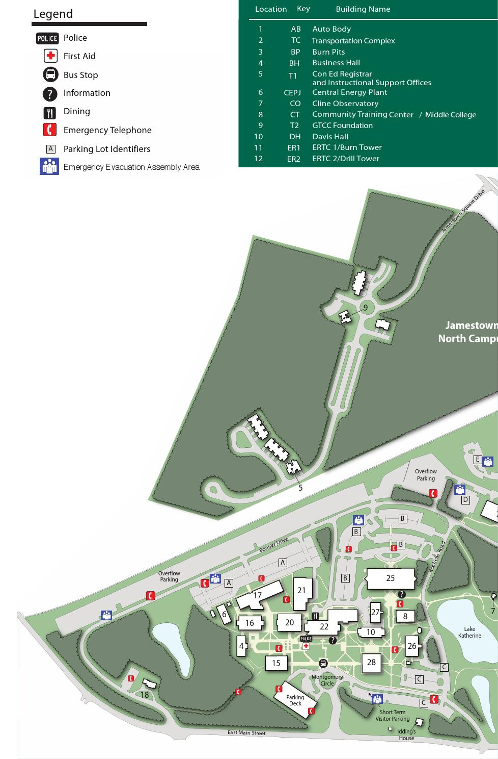 Gtcc Jamestown Campus Map GTCC Campus Maps & Traffic Regulations by Guilford Technical