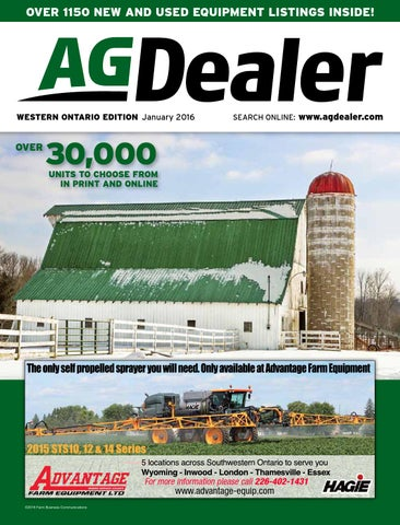 AGDealer Western Ontario Edition, January 2016 by Farm