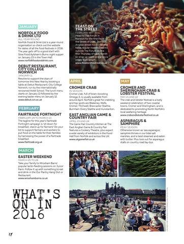 Feast Norfolk Magazine Jan 16 Issue 01 By Feast Norfolk Magazine Issuu