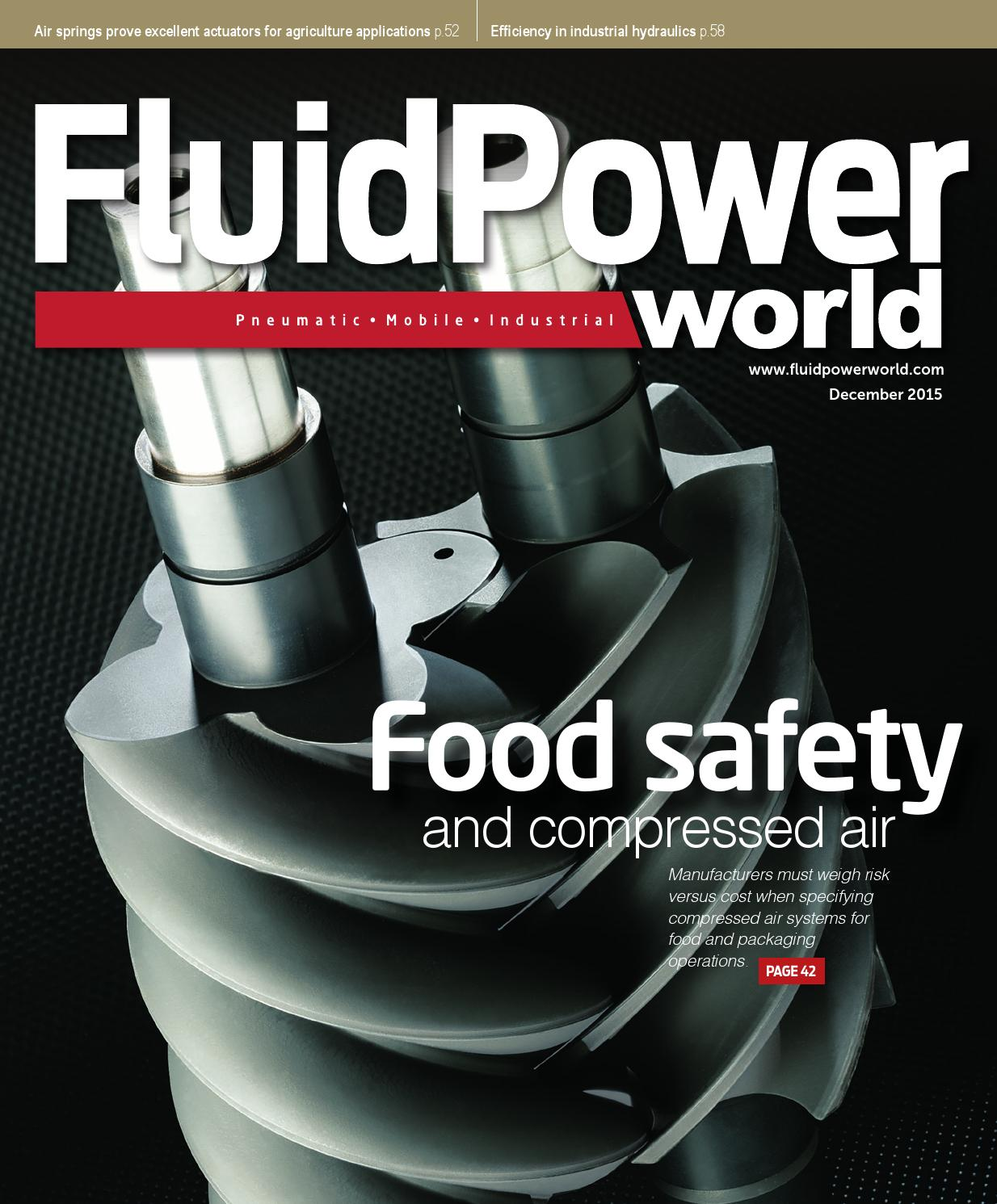 Fluid Power World December 2015 By Wtwh Media Llc Issuu Air Compressor Hs Height Sensor Ps Pressure Switch Electro Level I