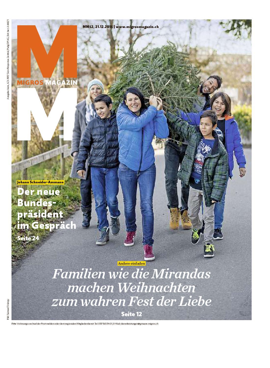 Migros Magazin 52 2015 D Aa By Migros Genossenschafts Bund Issuu