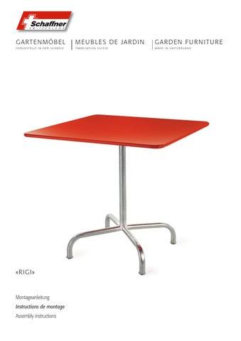 Montageanleitung Retro Tisch Rigi rund und quadratisch by ...