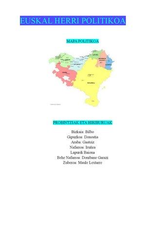 Euskal Herriko Mapa Politikoa.Euskalherrikogeografia By Koro Mugika Issuu