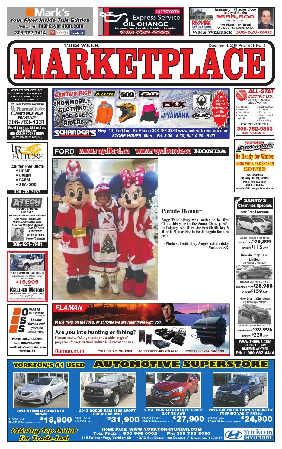 Marketplace December 18 2015 By Yorkton This Week Issuu Oil Filter Chevrolet Spin 1300 Cc Diesel
