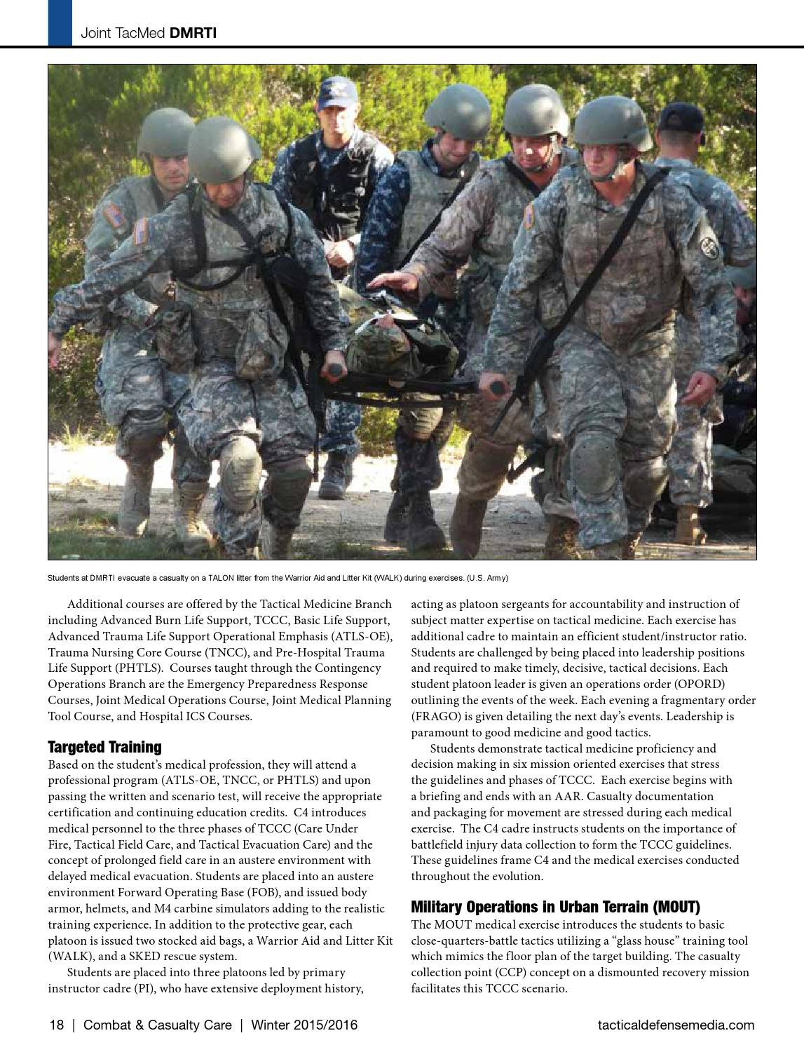 Combat Casualty Care Q4 2015 By Tactical Defense Media Issuu