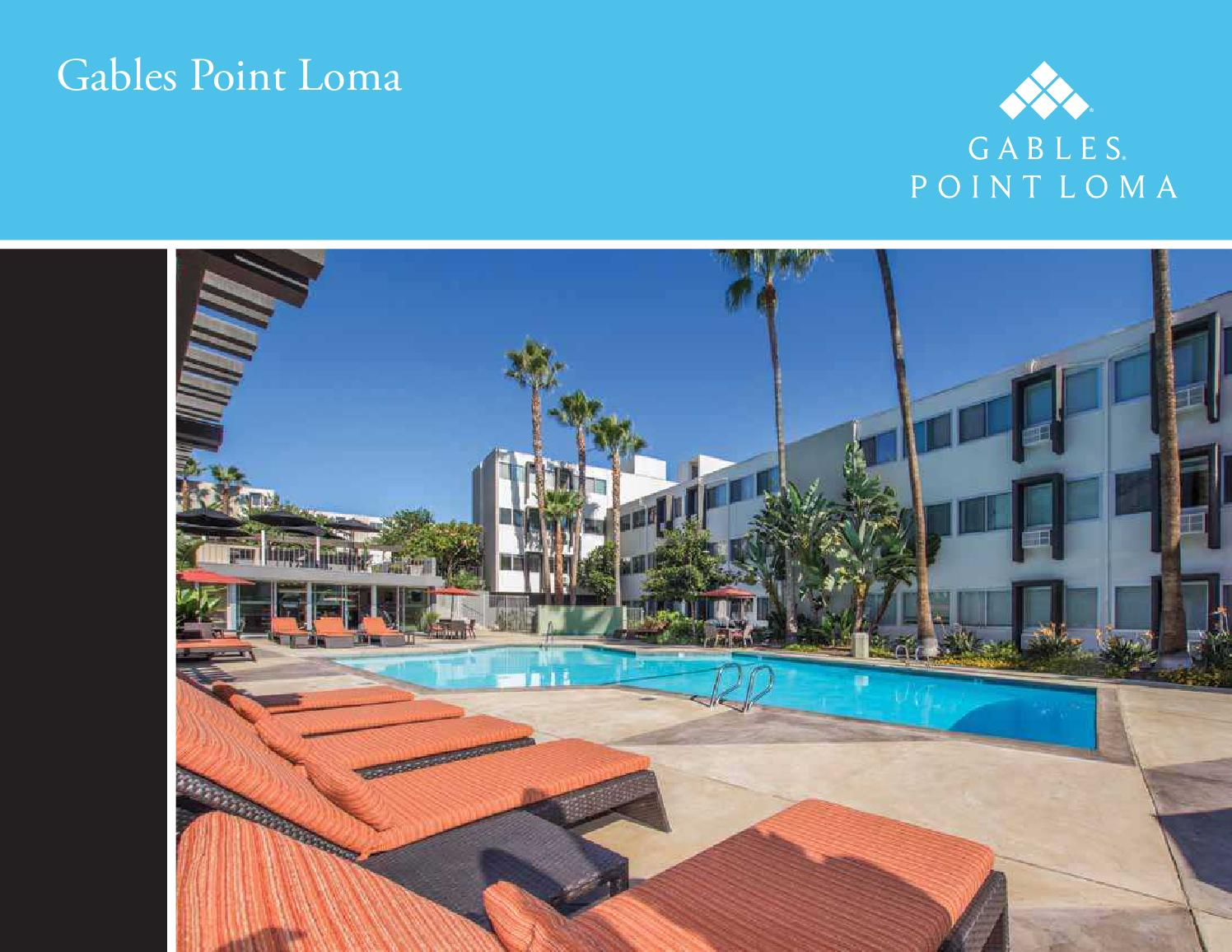 Gables Point Loma E Brochure By Gables Residential Issuu