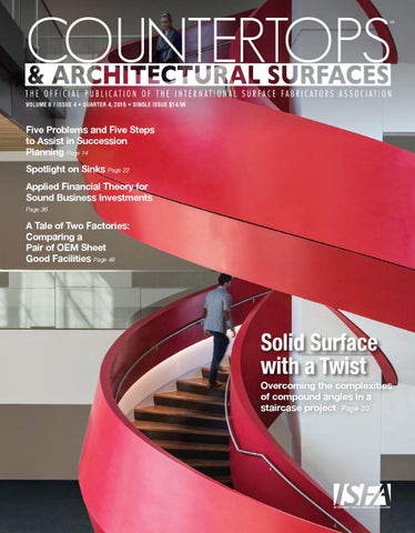 Isfa S Countertops Architectural Surfaces Vol 8 Issue 4 Q4 2017