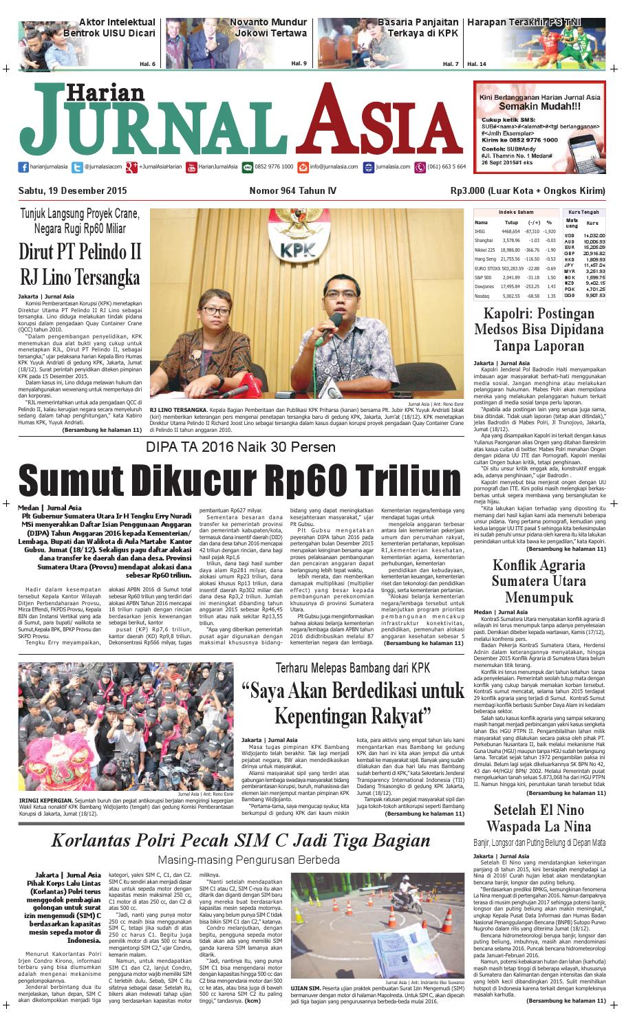 Harian Jurnal Asia Edisi Sabtu 19 Desember 2015 By Parcel Keramik Pja 1644 Medan Issuu