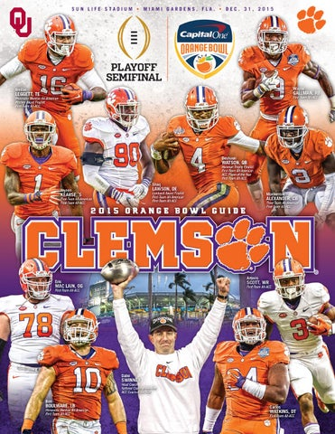 Wholesale 2015 Clemson Orange Bowl Guide by Clemson Tigers issuu  for sale