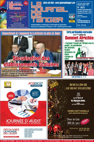 c9e9d6d10 Le Journal de Tanger 12 Décembre 2015 by Le Journal de Tanger - issuu