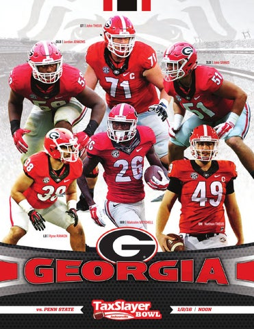 free shipping 4a803 19ec4 2016 Georgia Football TaxSlayer Bowl Media Guide by Georgia Bulldogs ...
