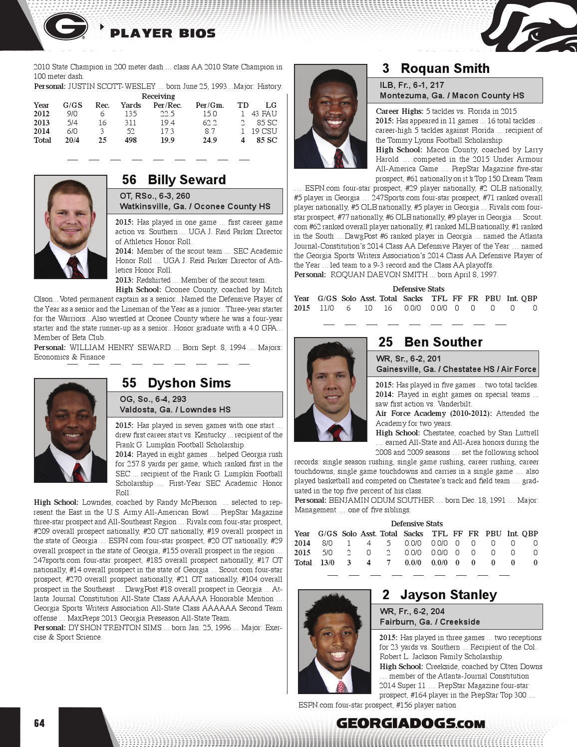 2016 Georgia Football TaxSlayer Bowl Media Guide by Georgia