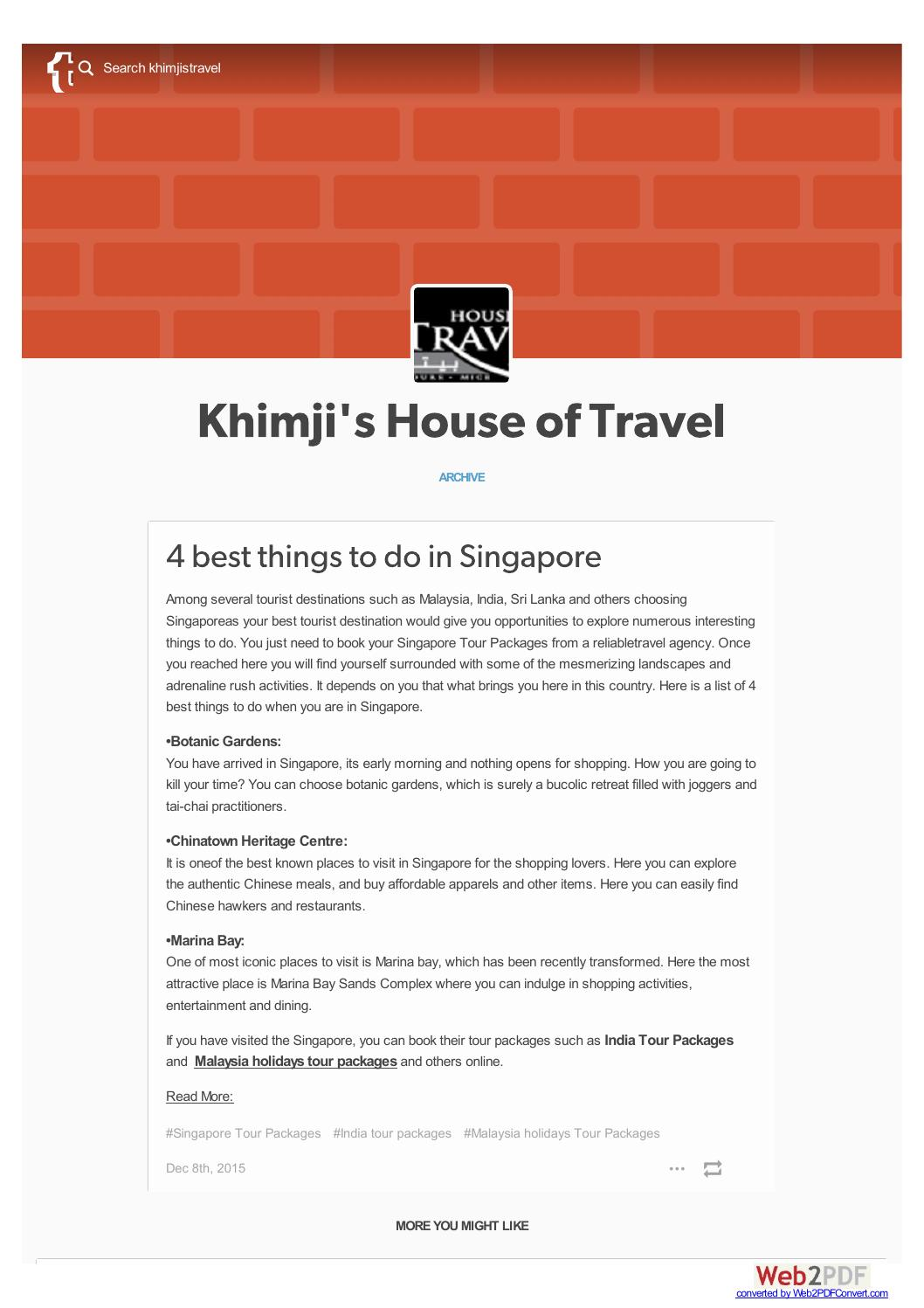 Best Things To Do In Singapore By Khimjistravel Issuu
