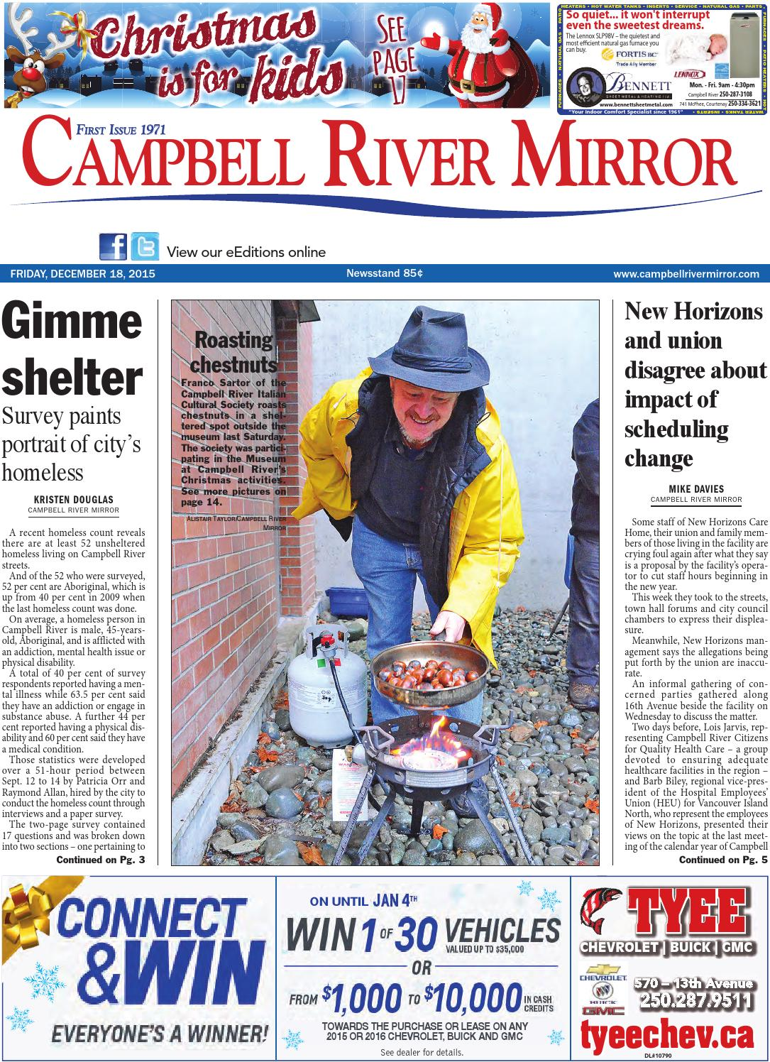 Campbell River Mirror, December 18, 2015 by Black Press - issuu 672f5550c5