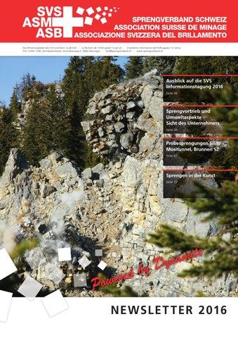 Sprengverband Schweiz Newsletter 2016 by artasio Media ...