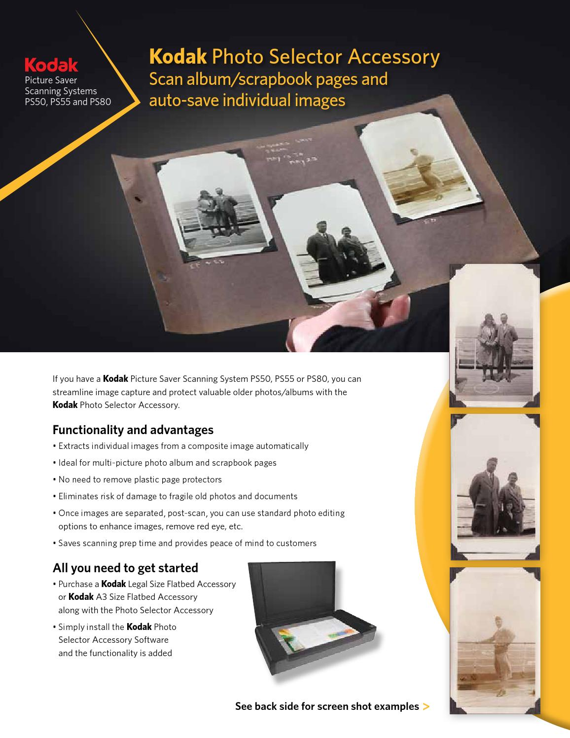 Kodak Photo Selector Accessory by E-Z Photo Scan, powered by