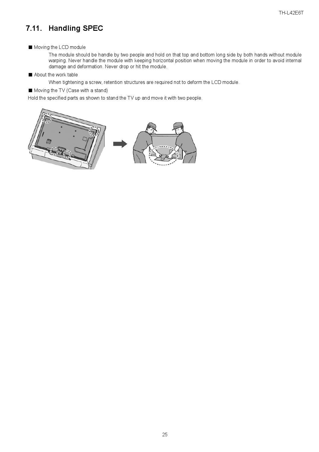 Manual de serviço TV LED PANASONIC TH-L42E6 by Portal da Eletrônica