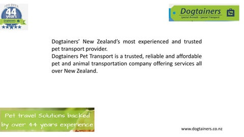 International Pet Transport Service By Dogtainers123 Issuu