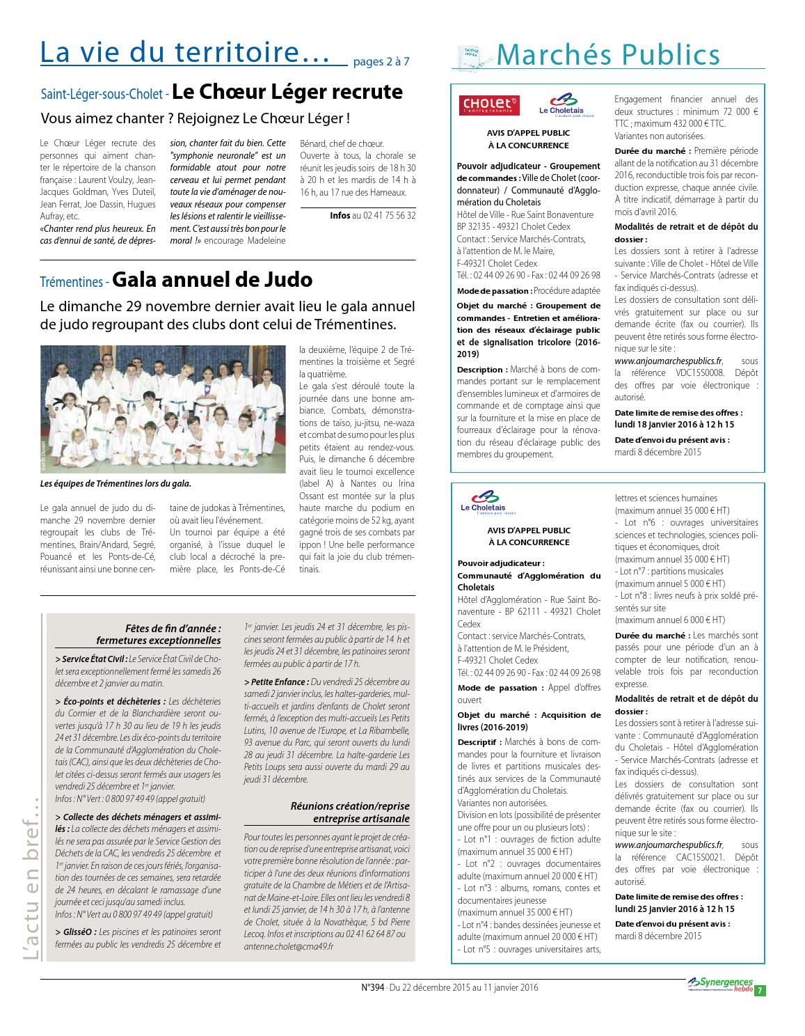 synergences hebdo n°394 by agglomération du choletais - issuu