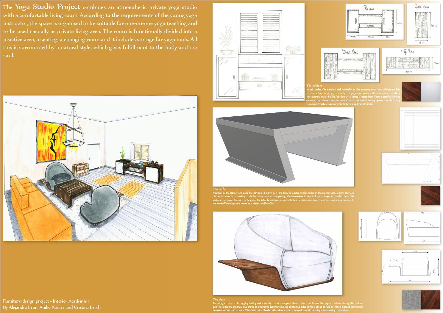 Furniture Design Project Yoga Teacher S Interior Presentation Board By Cristinalerch Issuu
