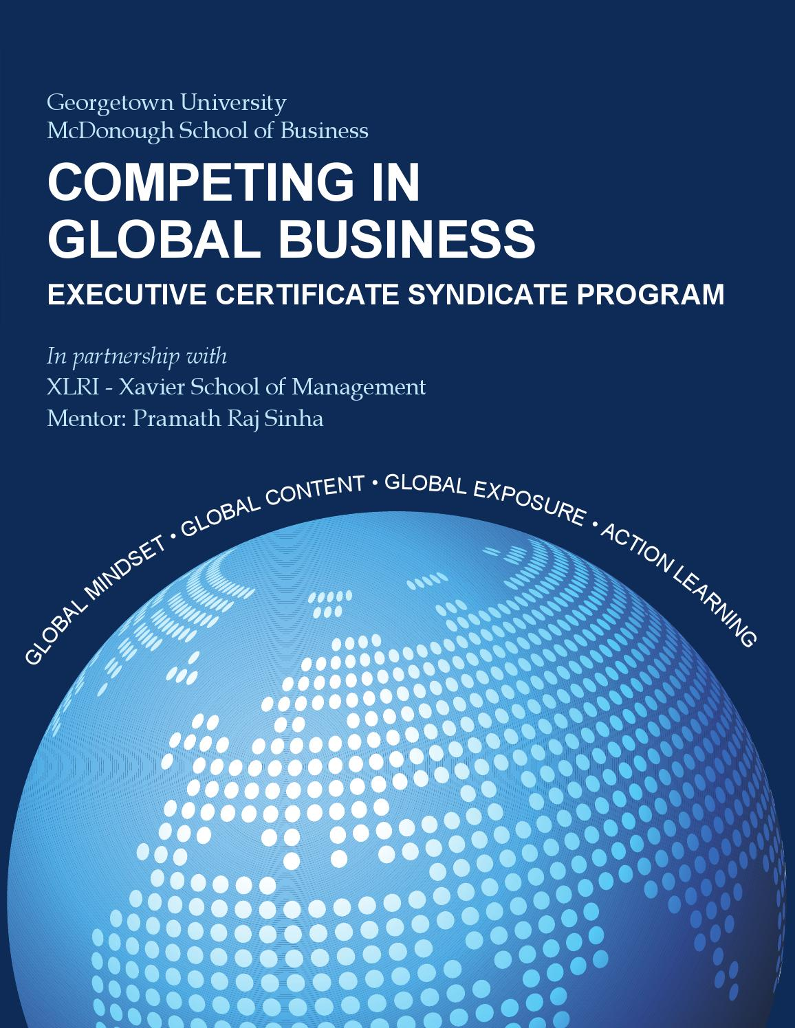 Competing In Global Business Executive Certificate Syndicate Program