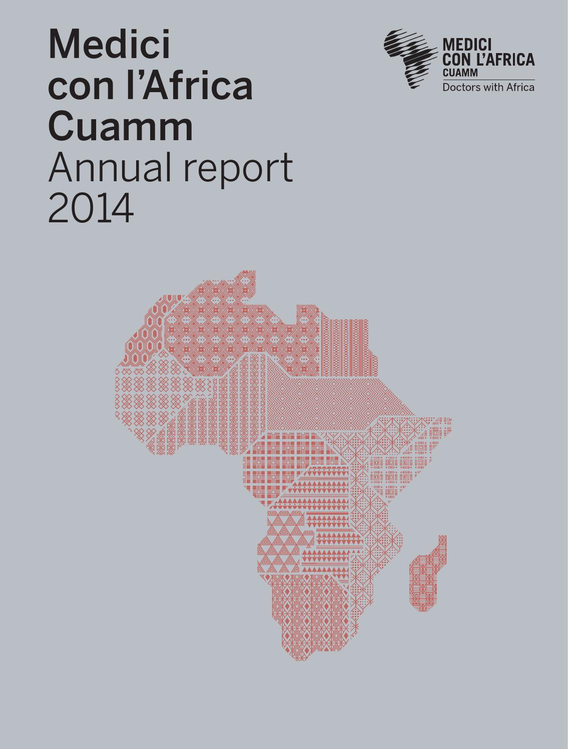 Africa Subsahariana Cartina Fisica.Medici Con L Africa Cuamm Annual Report 2014 By Medici Con