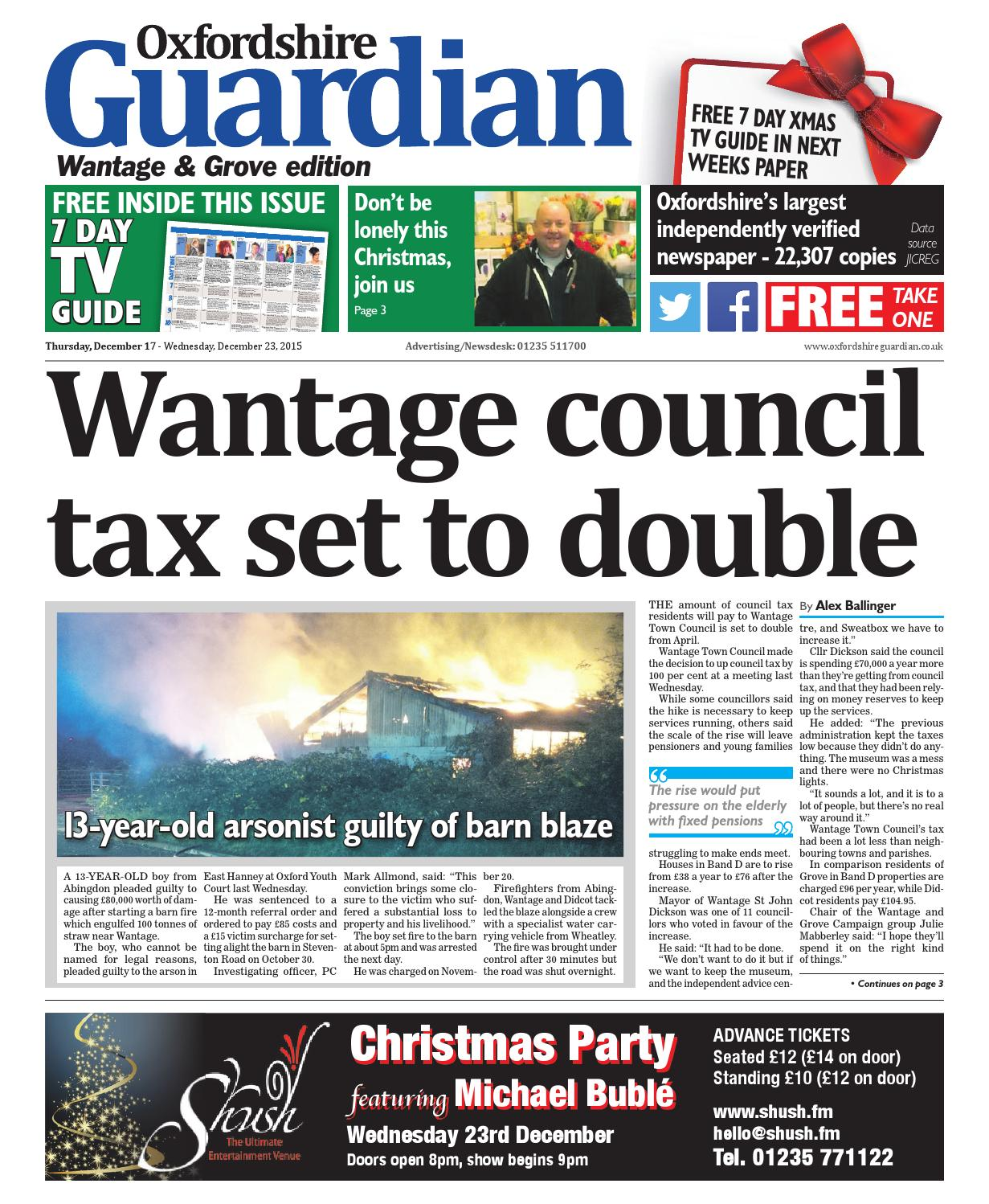17 December 2015 Oxfordshire Guardian Wantage By Taylor Newspapers