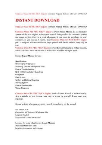 Onan nhc manual Download