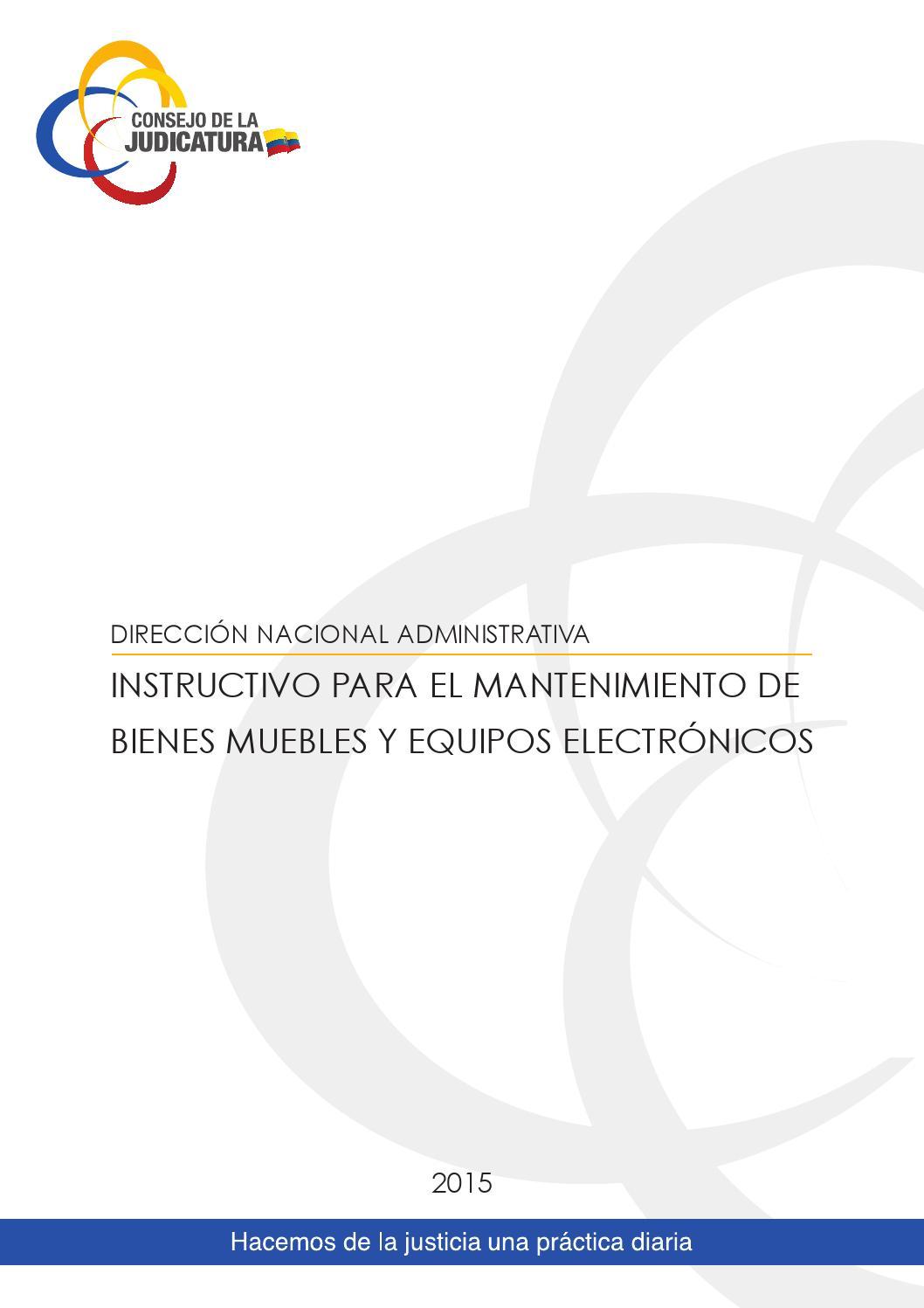 Instructivo Mantenimiento De Bienes Muebles Y Equipos Electr Nicos  # Muebles Fijos Especificaciones