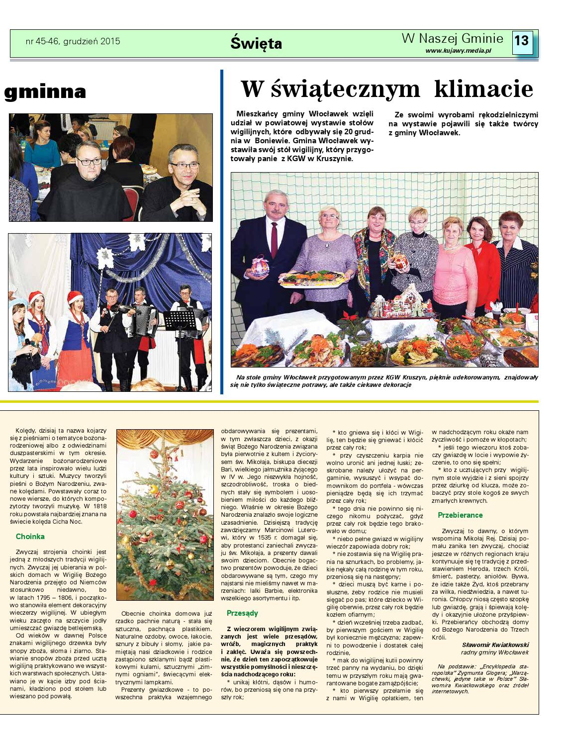 W Nasze Gminie Wloclawek 46 2015 By Wydawnictwo Kujawy Issuu