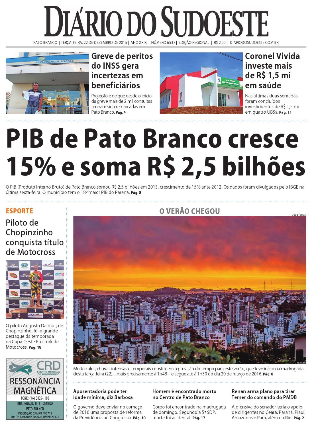 Diário do sudoeste 22 de dezembro de 2015 ed 6537 by Diário do Sudoeste -  issuu 72b7d50056139