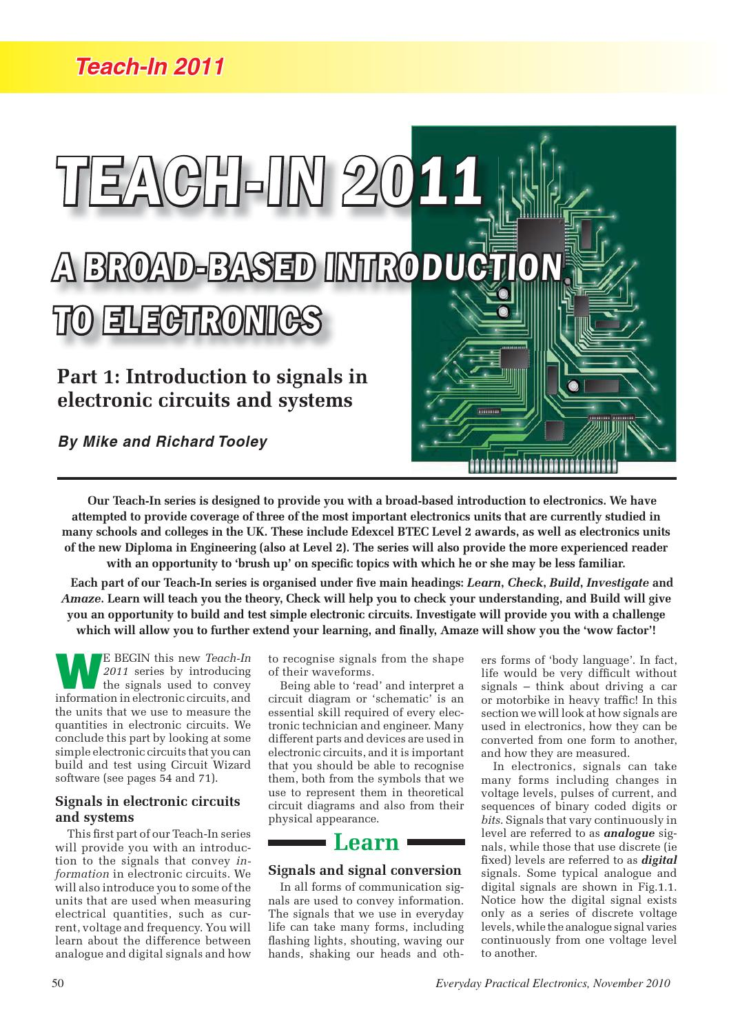 Teach In Electronics By Lee Yuan Issuu Make This Ic 556 Pure Sine Wave Inverter Circuit Electronic