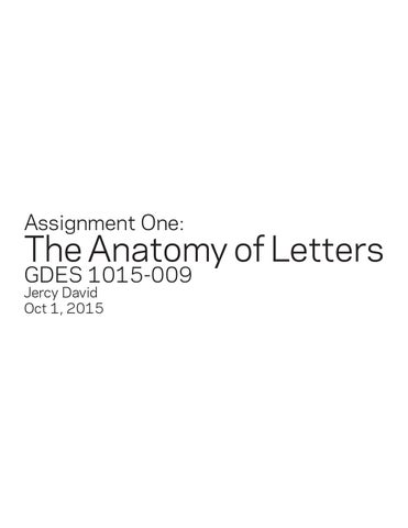 The Anatomy Of Letters By Jercy Dee Issuu