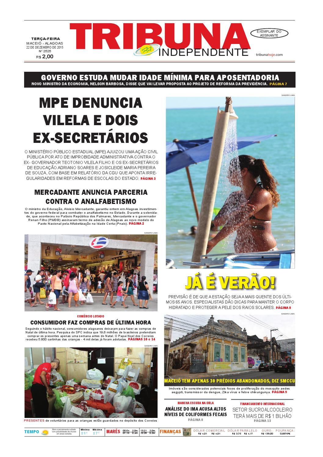 339b1ca3b10 Edição número 2525 - 22 de dezembro de 2015 by Tribuna Hoje - issuu