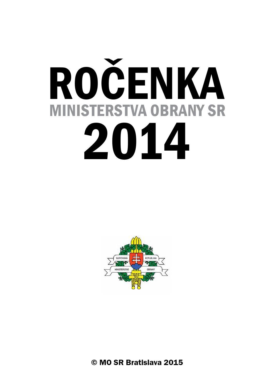 Rocenka MO SR 2014 by Ministerstvo obrany SR - issuu 6617cb33b5