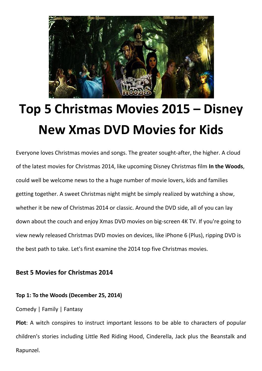 Top 5 christmas movies 2015 by LucyMorries - issuu