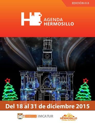 """Cover of """"Agenda Hermosillo del 18 al 31 de diciembre"""""""
