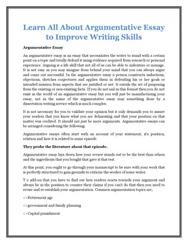help writing argumentative essay