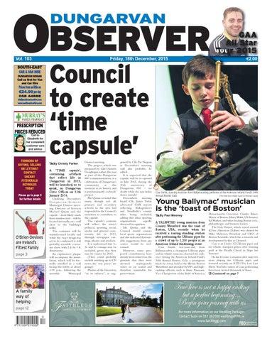 Dungarvan Observer 18 12 2015 Edition By Dungarvan Observer Issuu