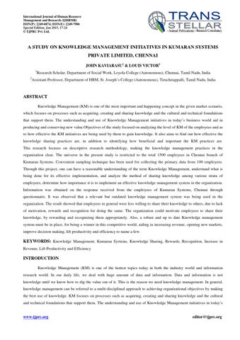 3 human resources ijhrmr a study on knowledge management