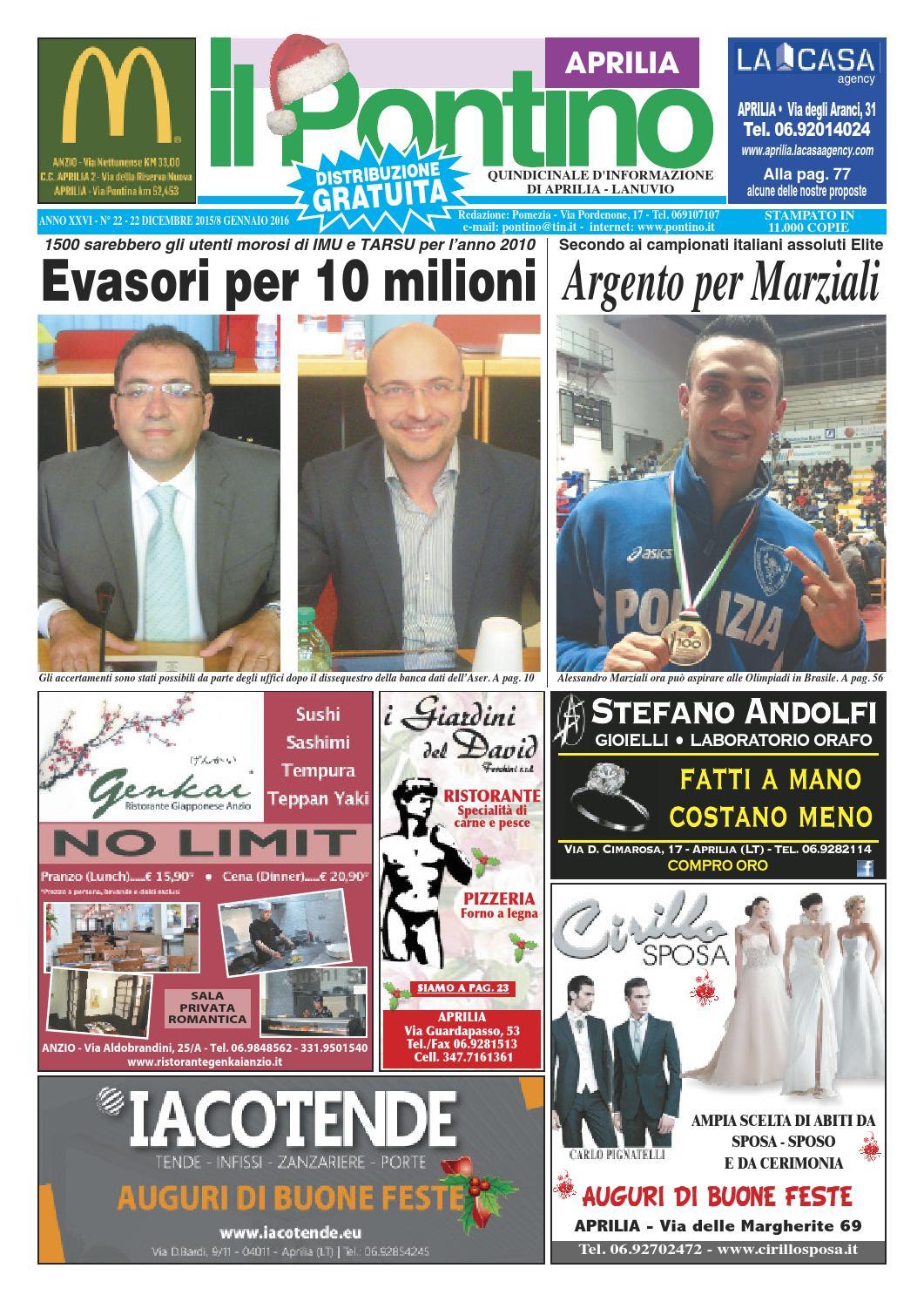 Il Pontino Aprilia - Anno XXVI - N. 22 - 22 Dicembre 2015 8 Gennaio 2016 by  Il Pontino Il Litorale - issuu 550ff2c9344