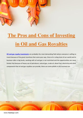 The Pros and Cons of Investing in Oil and Gas Royalties by
