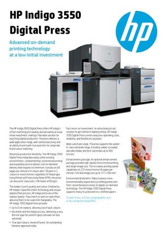 HP Indigo 3550 by Chromos_Marketing_1 - issuu