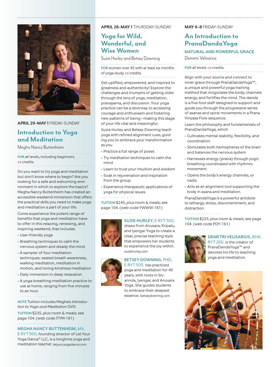 Kripalu Catalog Spring 2016 By Kripalu Center For Yoga Health Issuu