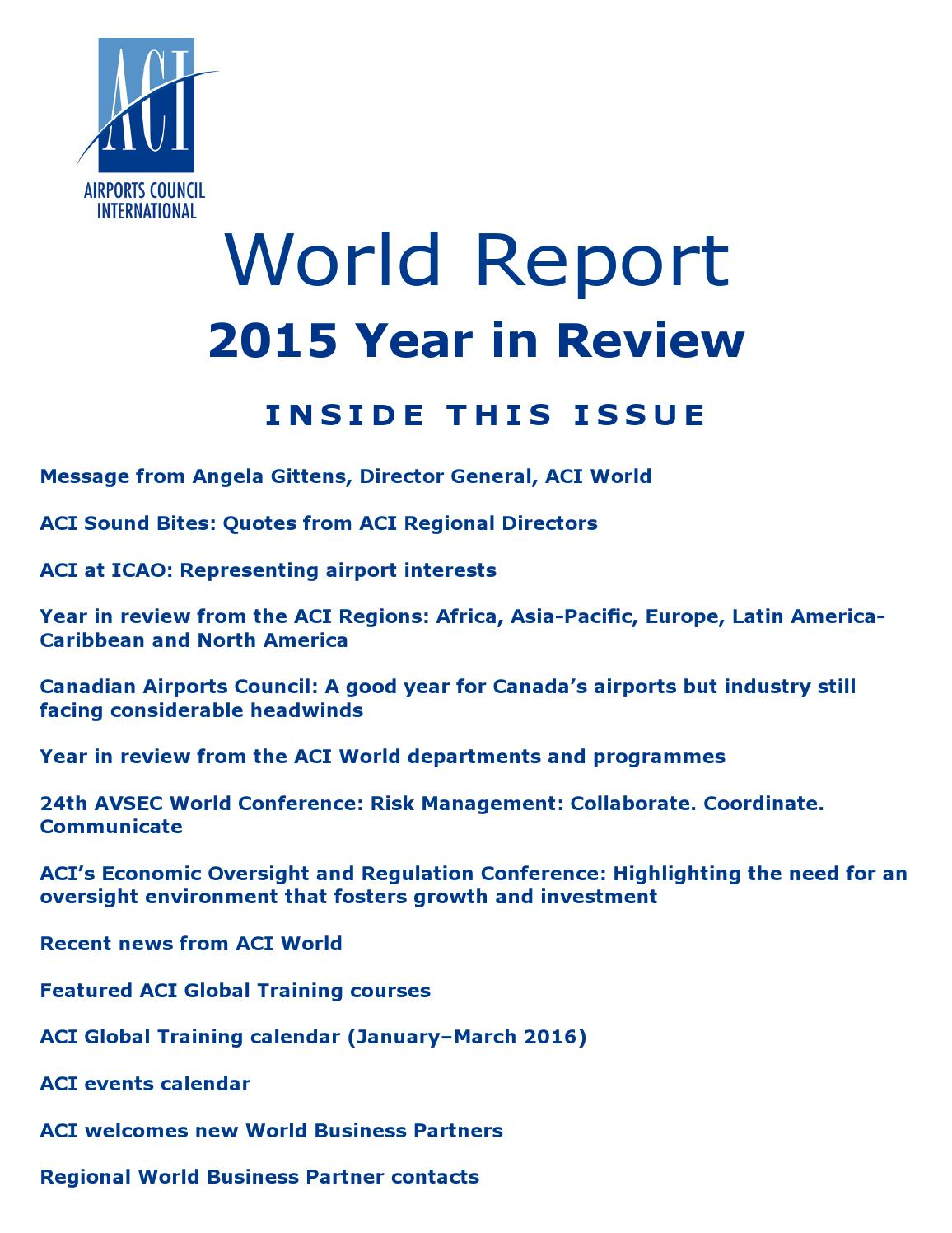 Aci world report 2015 year in review by airports council aci world report 2015 year in review by airports council international issuu xflitez Images