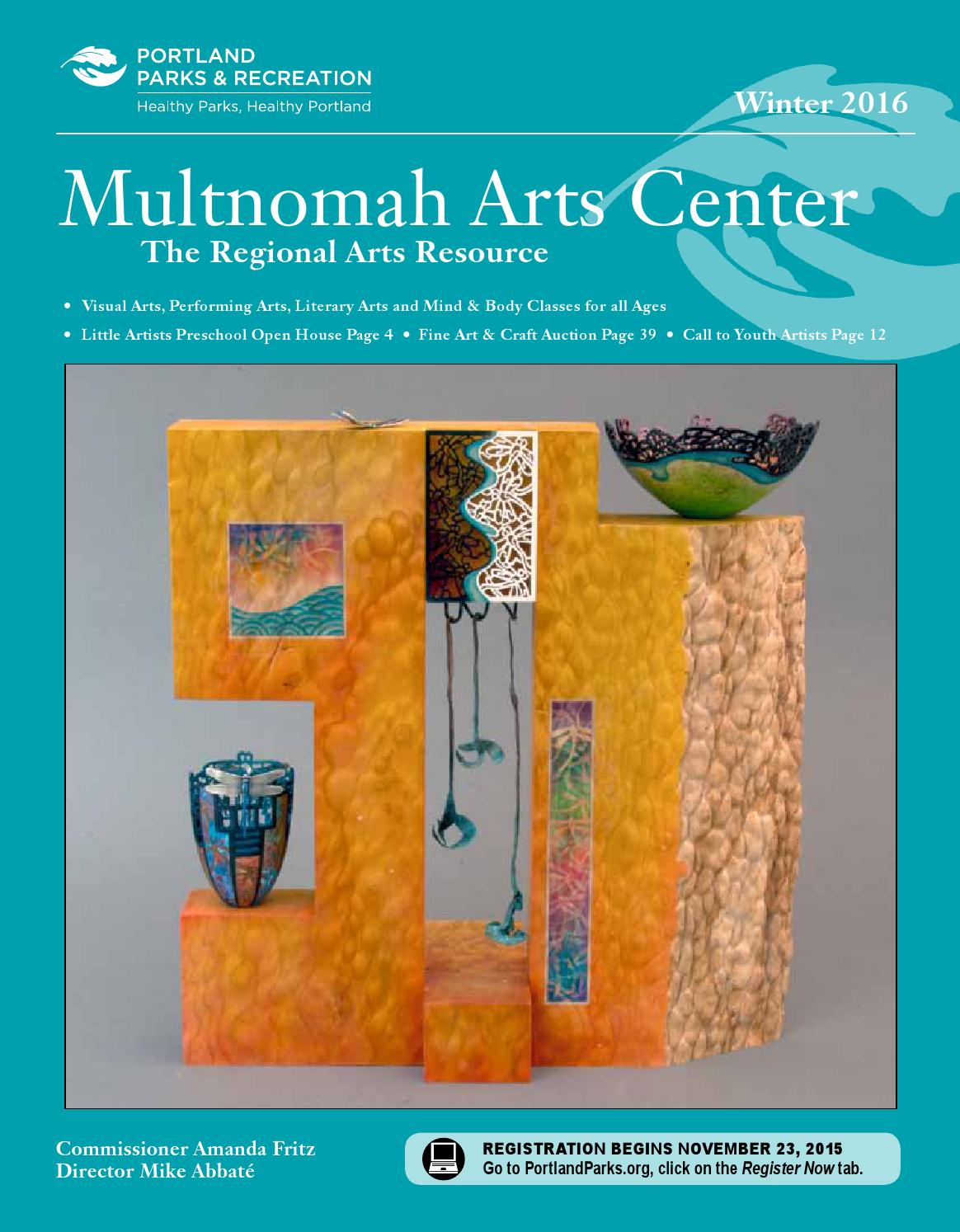 Multnomah arts center classes activities winter 2016 by for Michaels arts and crafts class schedule