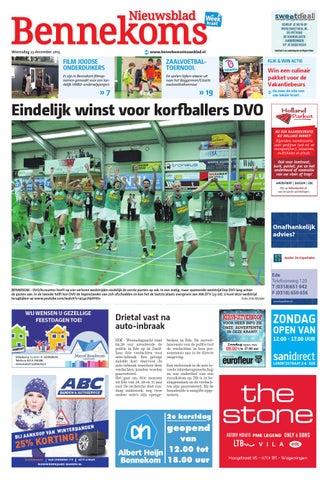 Bennekoms Nieuwsblad Week52 By Wegener Issuu